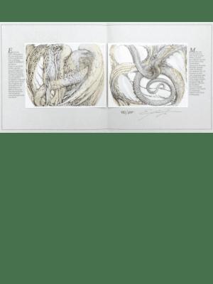 Buch Innenteil Kunstwerk von Ernst Fuchs